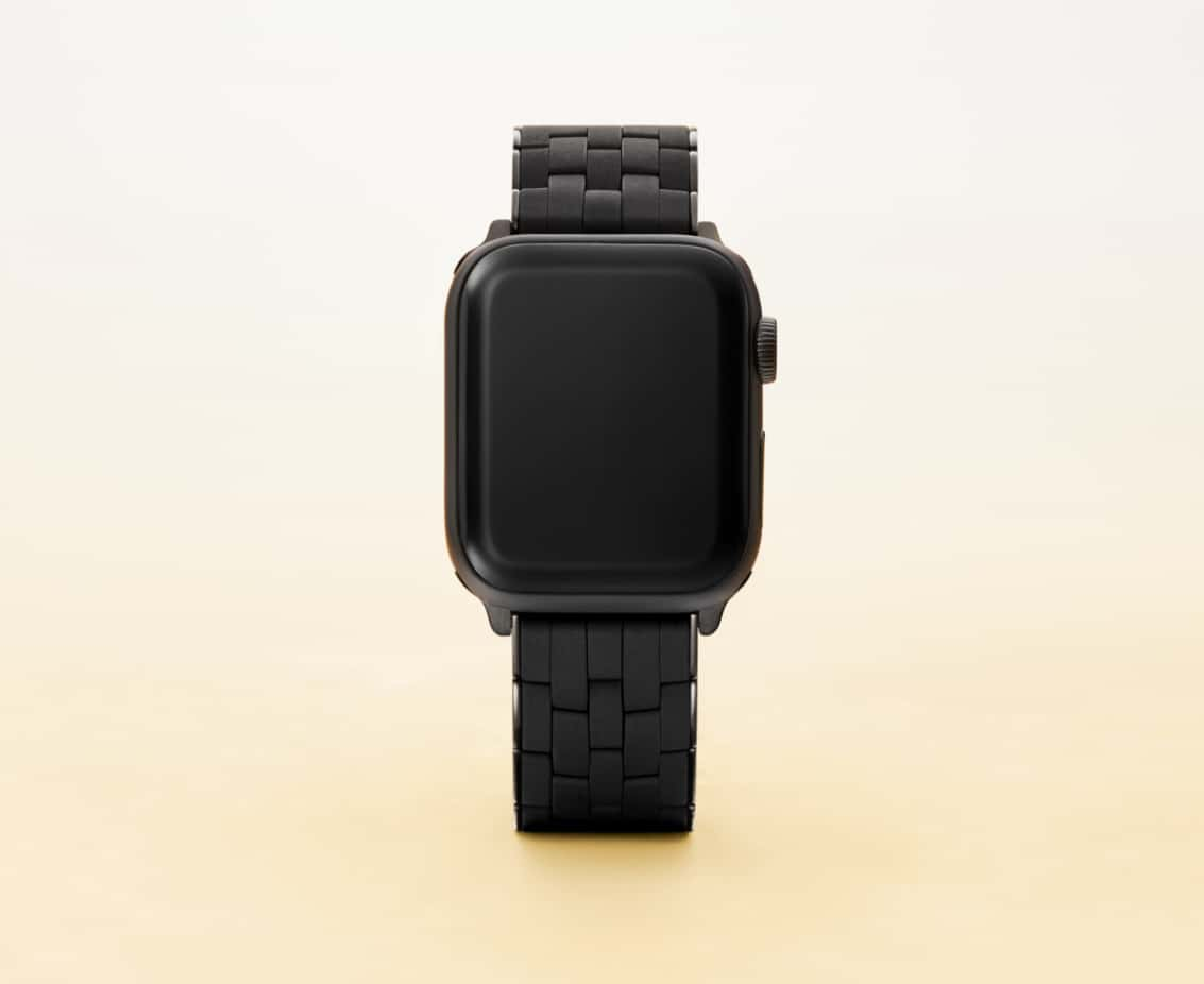 Apple Watch® band in black.