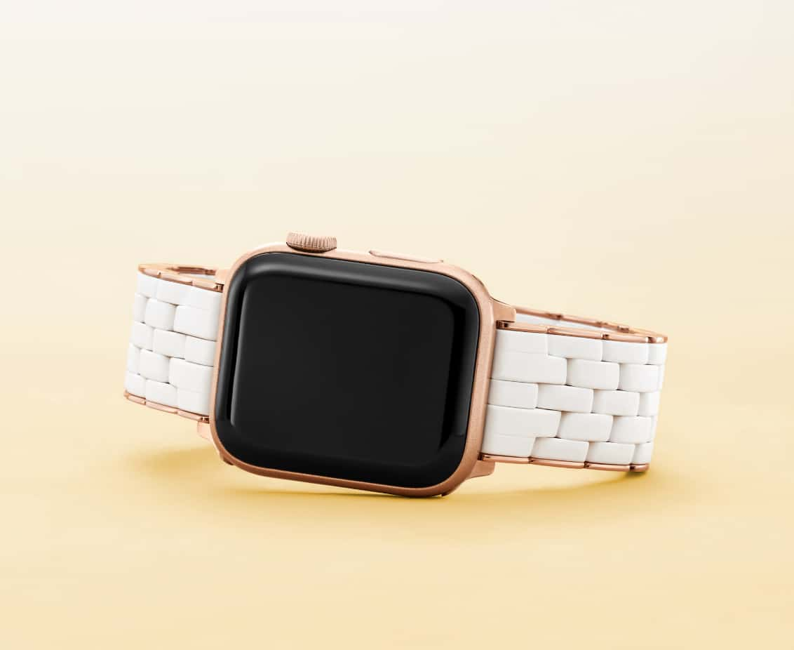 Apple Watch® band in white.
