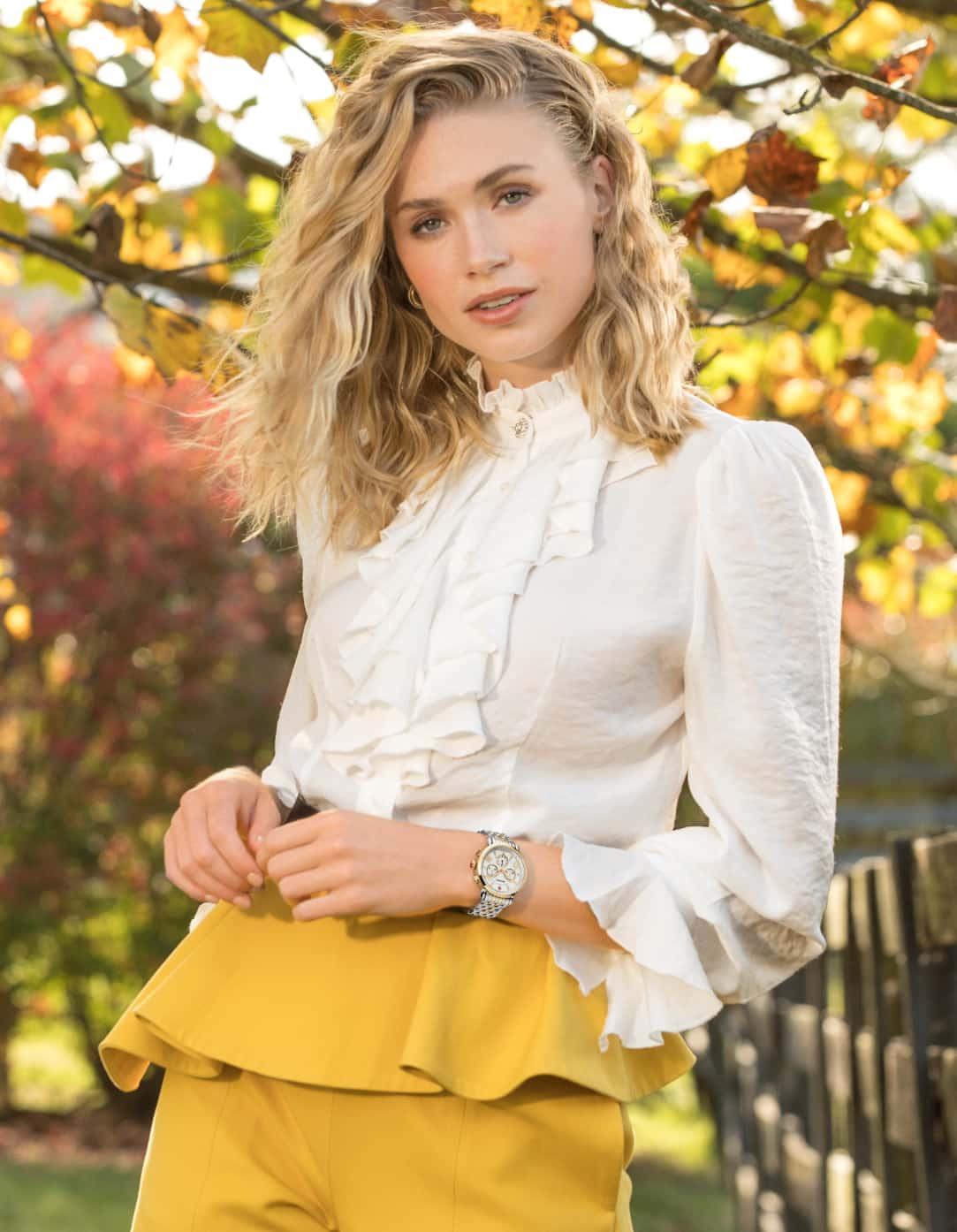 Stylish woman wearing Sport Sail watch.