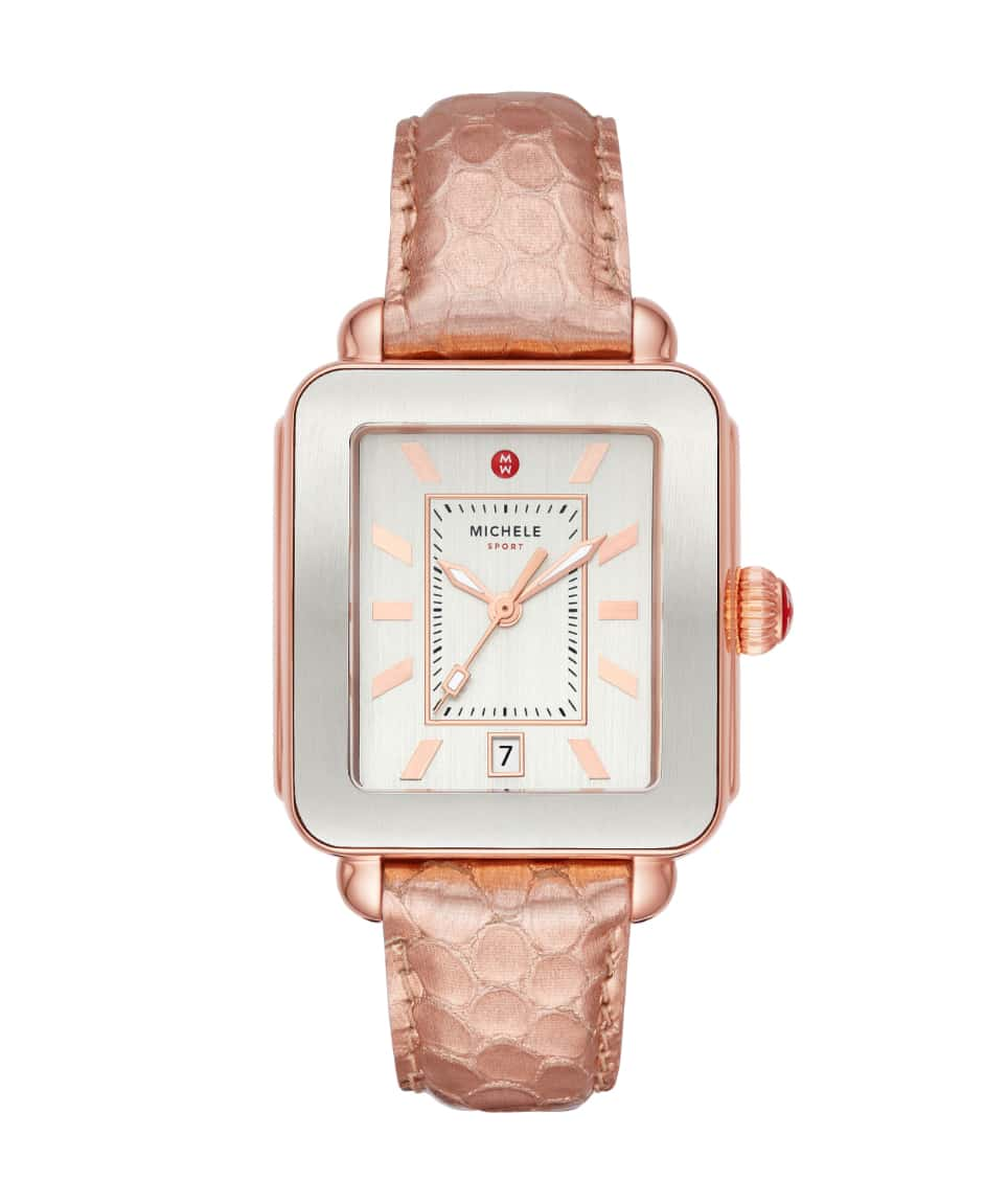 Deco Sport Mercurial Metallics watch in two-tone silver and pink gold-tone.