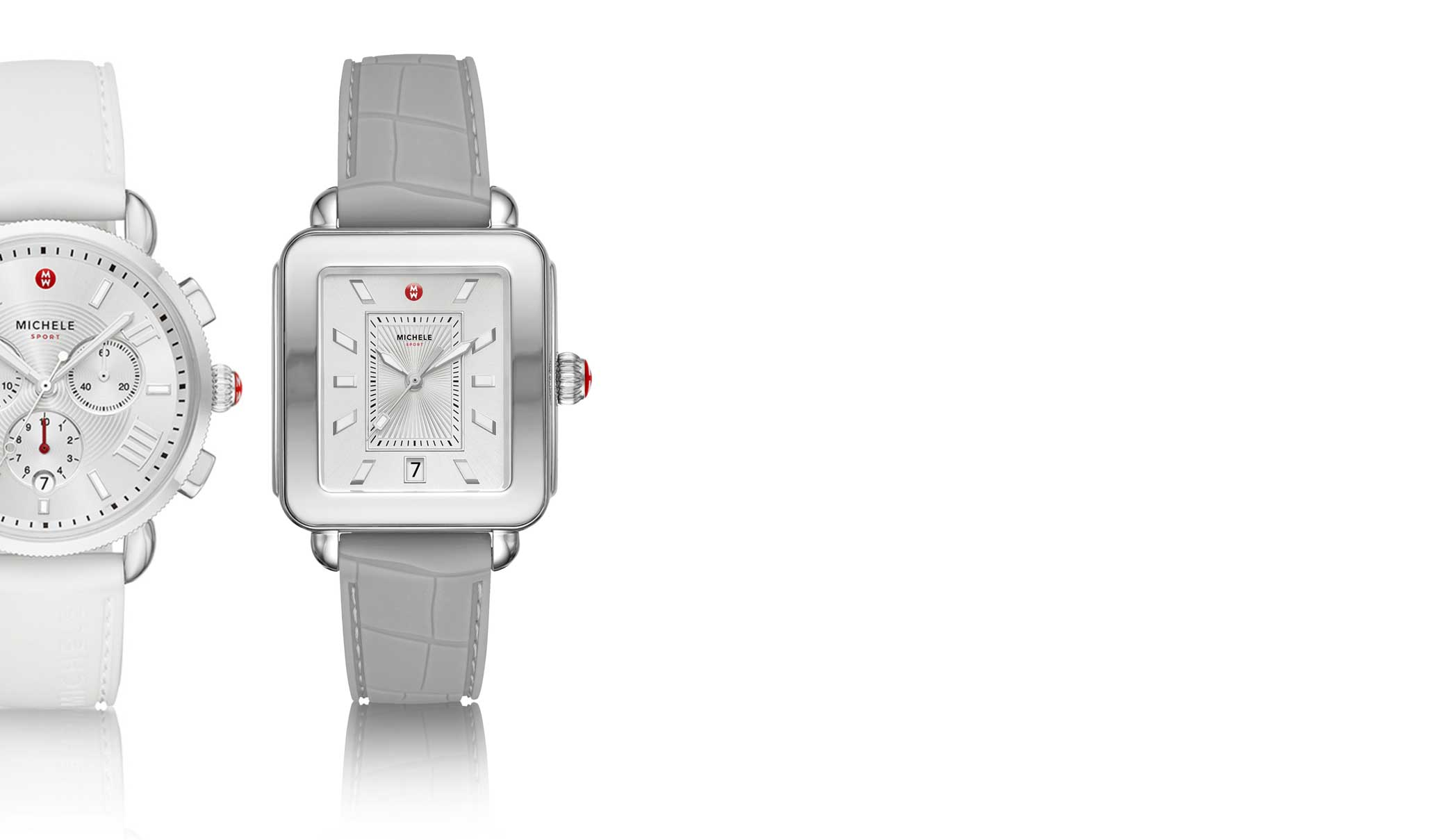 Iconic Deco watchin stainless featuring mother-of-pearl dial, diamond-covered bezel and signature seven-link bracelet.