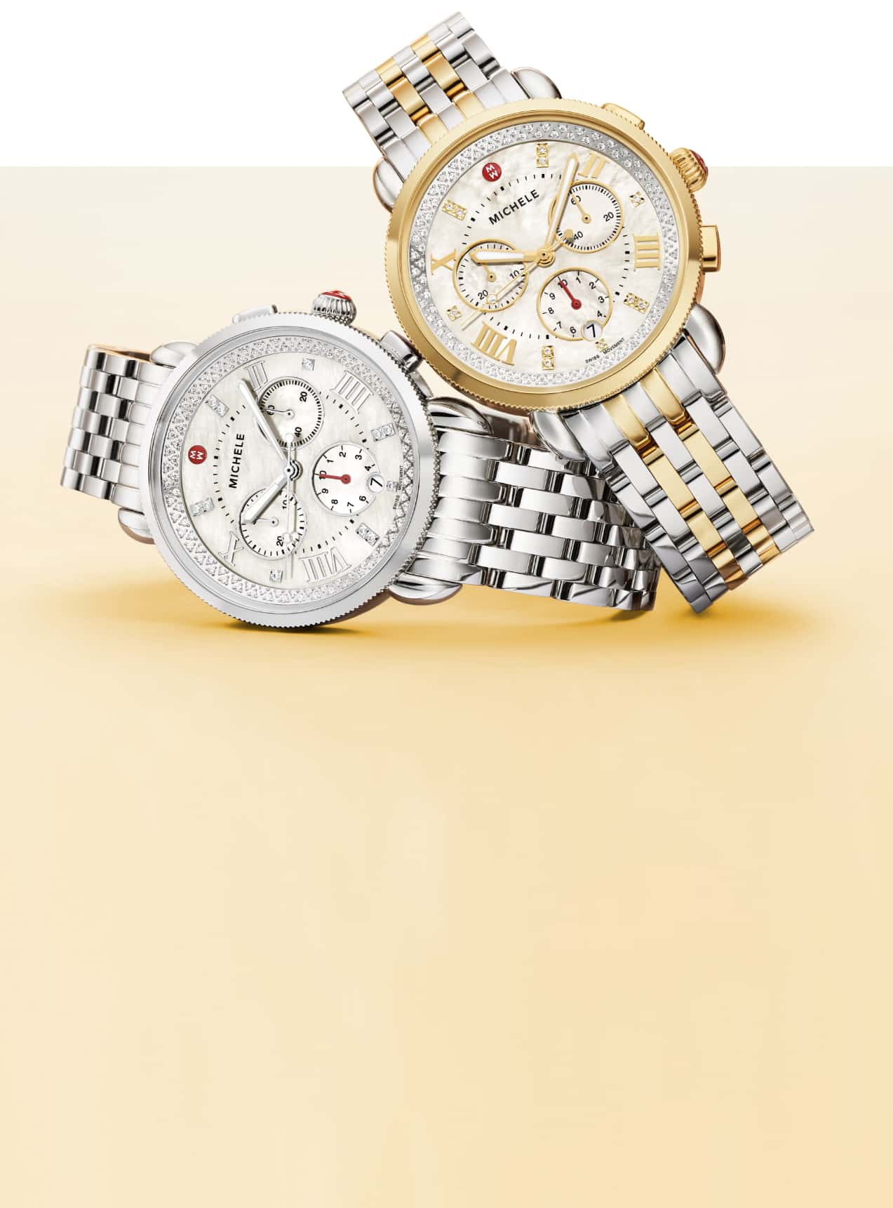 Two Sport Sail watches in stainless and two-tone with stianless and 18K gold-plating